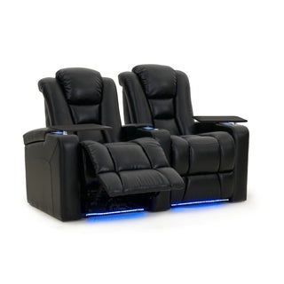 Octane Mega XL950 Motor Headrest Leather Home Theater Seats (Row of 2)