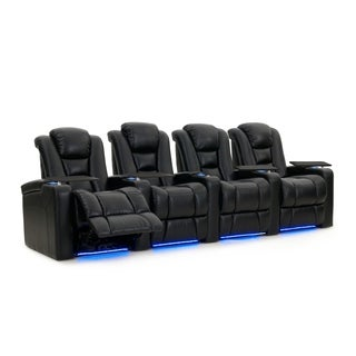 Octane Mega XL950 Motor Headrest Leather Home Theater Seats (Row of 4)