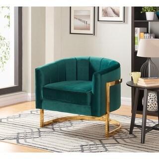 Carter Green Velvet Accent Chair