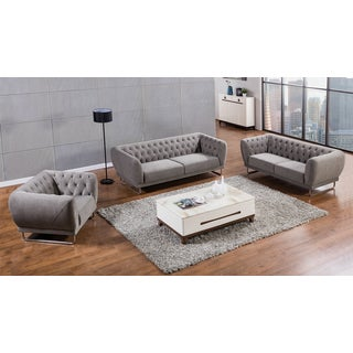 Grey Fabric Sofa Set