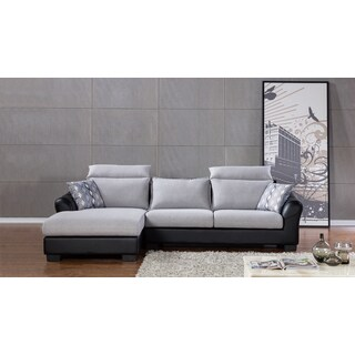 Light Grey 2-tone Fabric Sectional