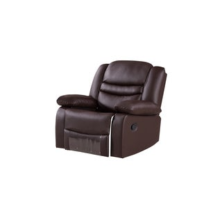 Dark Brown Faux Leather Recliner Chair