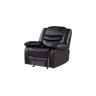 Black Faux Leather Recliner Chair
