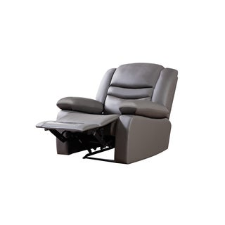 Dark Grey Faux Leather Recliner Chair