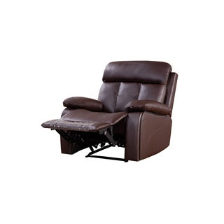 Dark Brown Faux Leather Recliner Chair  sc 1 st  Overstock & Vinyl Recliner Chairs u0026 Rocking Recliners For Less | Overstock.com islam-shia.org