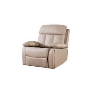 Tan Faux Leather Recliner Chair