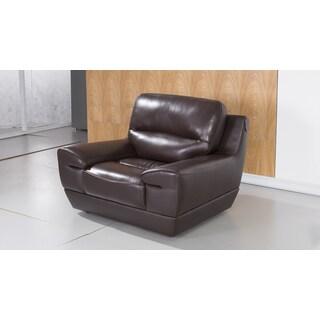 Dark Brown Italian Leather Chair