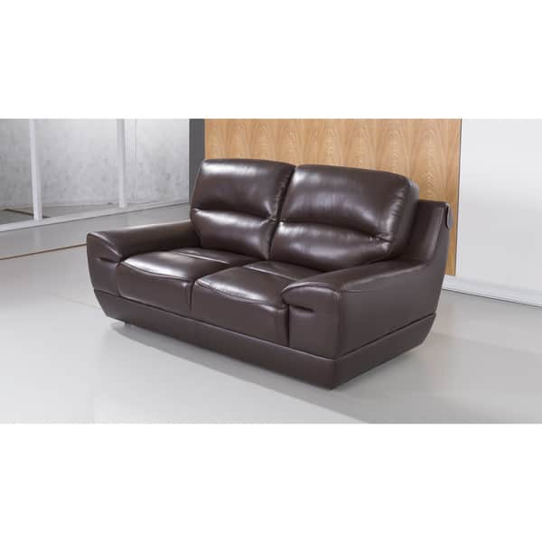 Pleasing Dark Brown Italian Leather Loveseat Caraccident5 Cool Chair Designs And Ideas Caraccident5Info