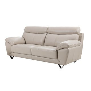 Light Grey Italian Leather Sofa