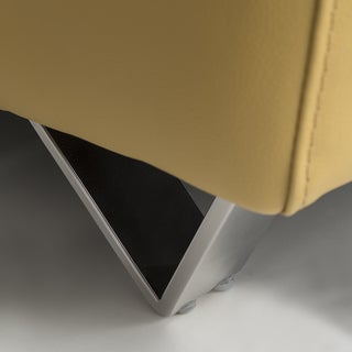 Yellow Italian Leather Sofa Set