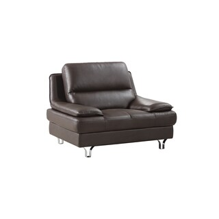 Dark Chocolate Genuine Leather Chair