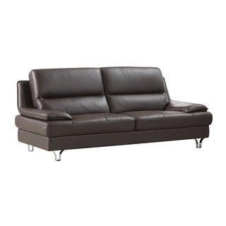 Dark Chocolate Genuine Leather Sofa
