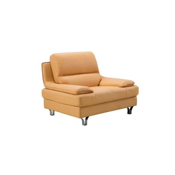 Yellow Genuine Leather Chair