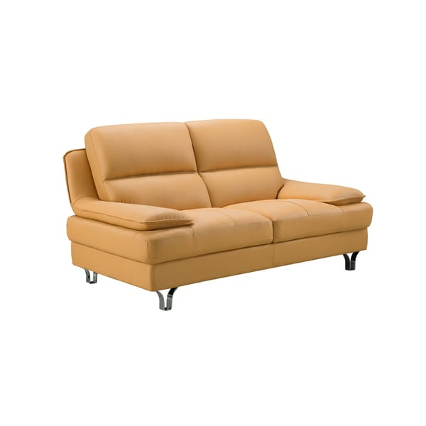 Yellow Leather Sectional Sofa: Shop Yellow Genuine Leather Loveseat