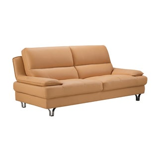 Yellow Genuine Leather Sofa