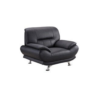 Black Genuine Leather Chair
