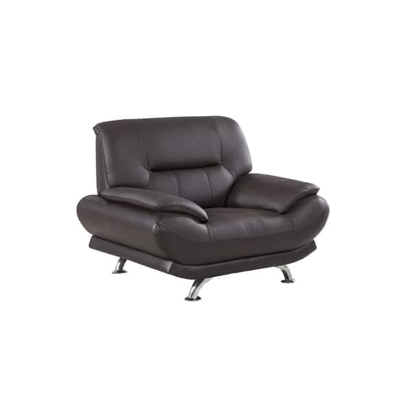 Astonishing Dark Chocolate Genuine Leather Chair Theyellowbook Wood Chair Design Ideas Theyellowbookinfo