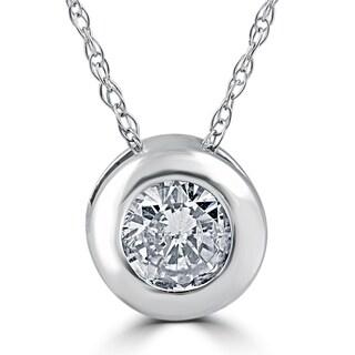 14k White Gold 3/4 ct TDW Diamond Solitaire Bezel Pendant|https://ak1.ostkcdn.com/images/products/13519450/P20201365.jpg?_ostk_perf_=percv&impolicy=medium
