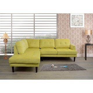 Cavenzi Mid Century L shaped Sectional Left Facing Chaise