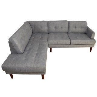 Lavin Mid Century Grey Left Chaise L Shape Sectional