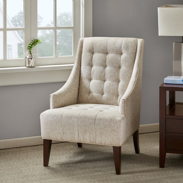 Shop Madison Park Caden Cream Accent Chair Free Shipping
