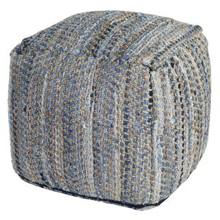 26-inch Blue Jeans Denim & Hemp Pouf