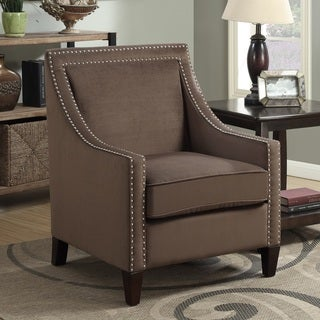 Christie Brown Upholstered Trimmed Arm Chair