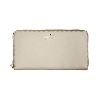 Kate Spade New York Cedar Street Lacey Crisp Linen Beige Leather Wallet