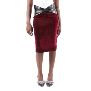Hadari Women's Bodycon Fitted Pull On Knee Length Midi Tube Pencil Skirt