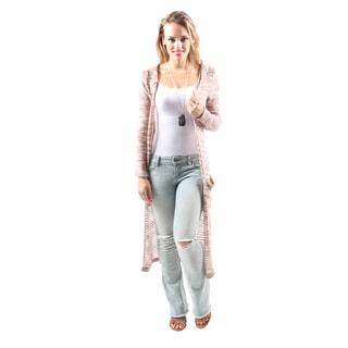 Hadari Women's Casual Fashion Sexy Open Front Hooded Long Cardigan