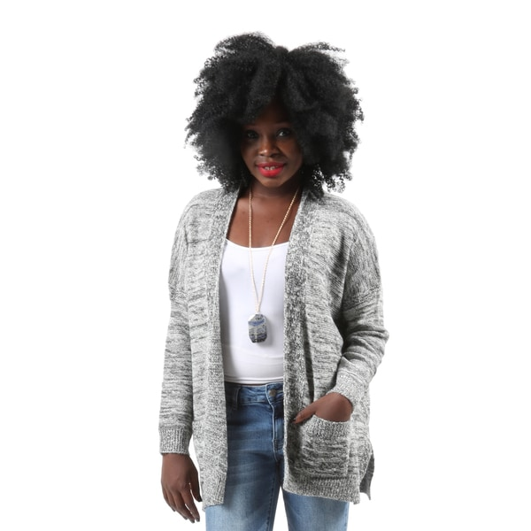 Hadari Women's Casual Winter Warm Short Grey Open Front Cardigan ...