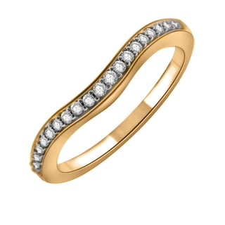 14k Yellow Gold 1/6ct TDW Diamond Anniversary Ring (H-I, I1-I2)