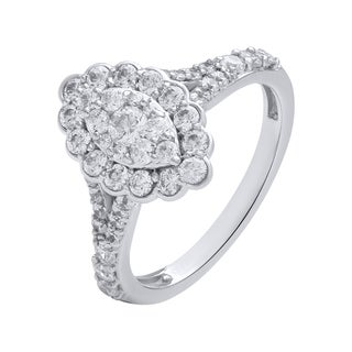 14k White Gold 1 1/4ct TDW Diamond Engagement Ring (H-I, I2-I3)