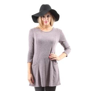 Hadari Women's Casual Long Sleeve Fashion Loose Round Neck Tunic Top