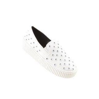 Hadari Women's Casual Fashion White Slip-On Sneaker Shoes
