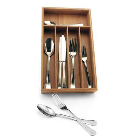 Everyday 20-piece Flatware Set with Flatware Organizer Caddy (Service for 8)