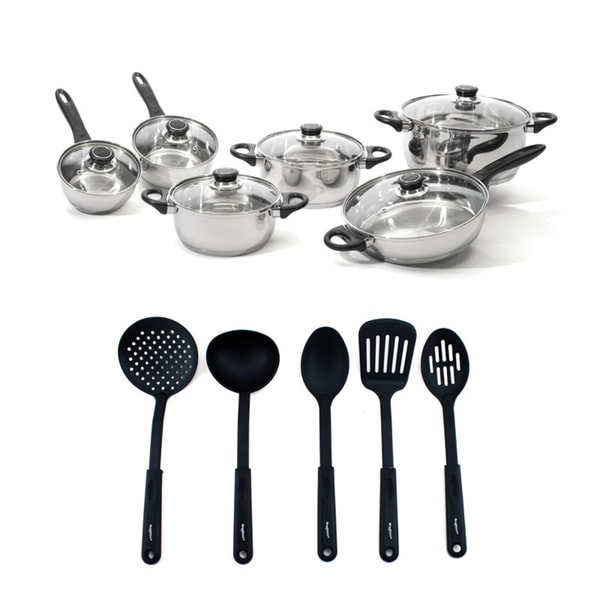 Shop Berghoff Ostend Stainless Steel Cookware And Black