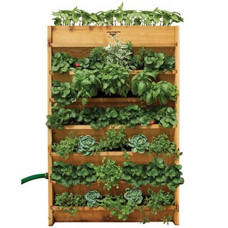 Brown Wood Pre-assembled Vertical Garden