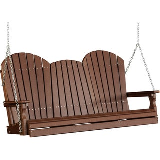 Poly 5 Foot Adirondack Outdoor Porch Swing