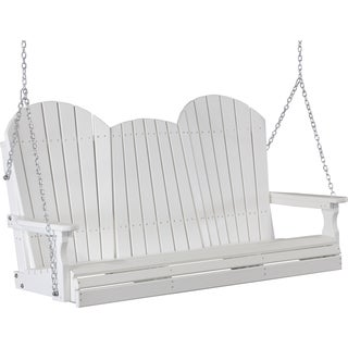 Poly 5 Foot Adirondack Outdoor Porch Swing