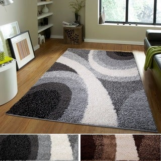 Home Dynamix Synergy Collection Contemporary Three-tone Circles Area Rug (4'9 x 6'6)