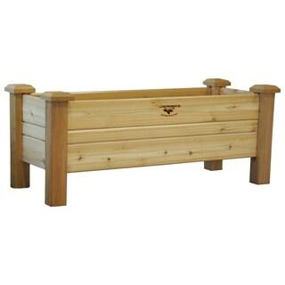 Tan Finish Western Red Cedar Planter Box