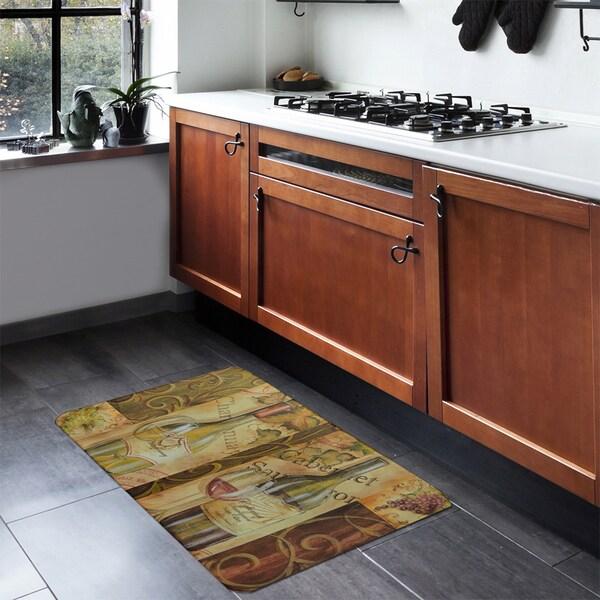 dynamix designer chef collection anti fatigue multicolor kitchen mat