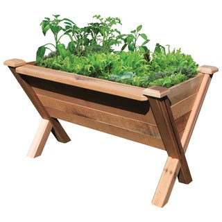Natural Wood Modular Garden Wedge