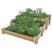 Multi-level Rustic Raised Garden Bed
