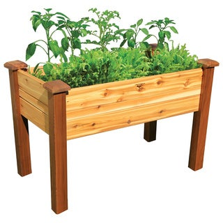Elevated Red Cedar Wood Garden Bed