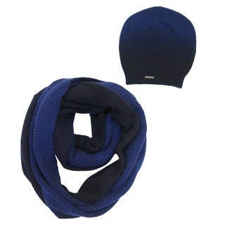 Tahari Blue Ombre Wool Hat and Scarf Set