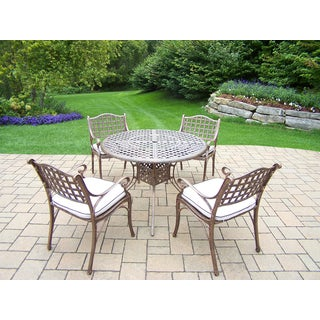 Merit 5-Piece Dining Set with 42 inch Table and Four Cushioned Chairs