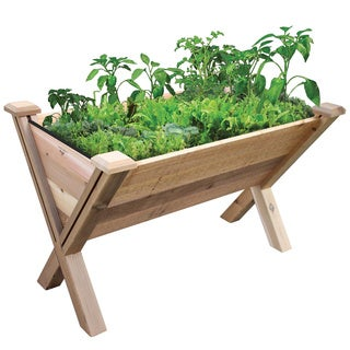 ECO 18-inch Planting Depth Modular Rustic Garden Wedge