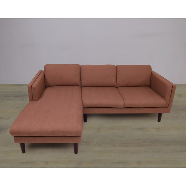 Light Brown Left Chaise And L Shape Sectional Sofa 2 Piece Set